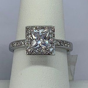 RS Covenant Sparkly Clear Square CZ Ring